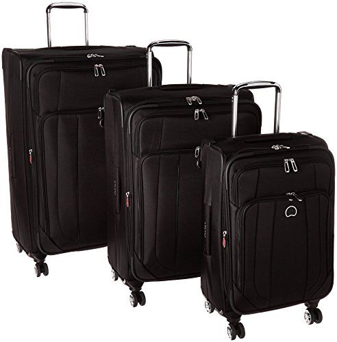 Luggage Sets Collections | Delsey Luggage Helium Cruise 3 Piece Exp 4 Wheel Spin Lug Black *** Click on the image for additional details. Note:It is Affiliate Link to Amazon.