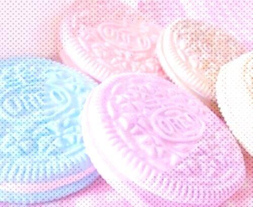 Isabel Pink Xoxoxo Pastell Oreos Desserts Kawaii Food 90er Jahre Retro sthetische Stimmung - -
