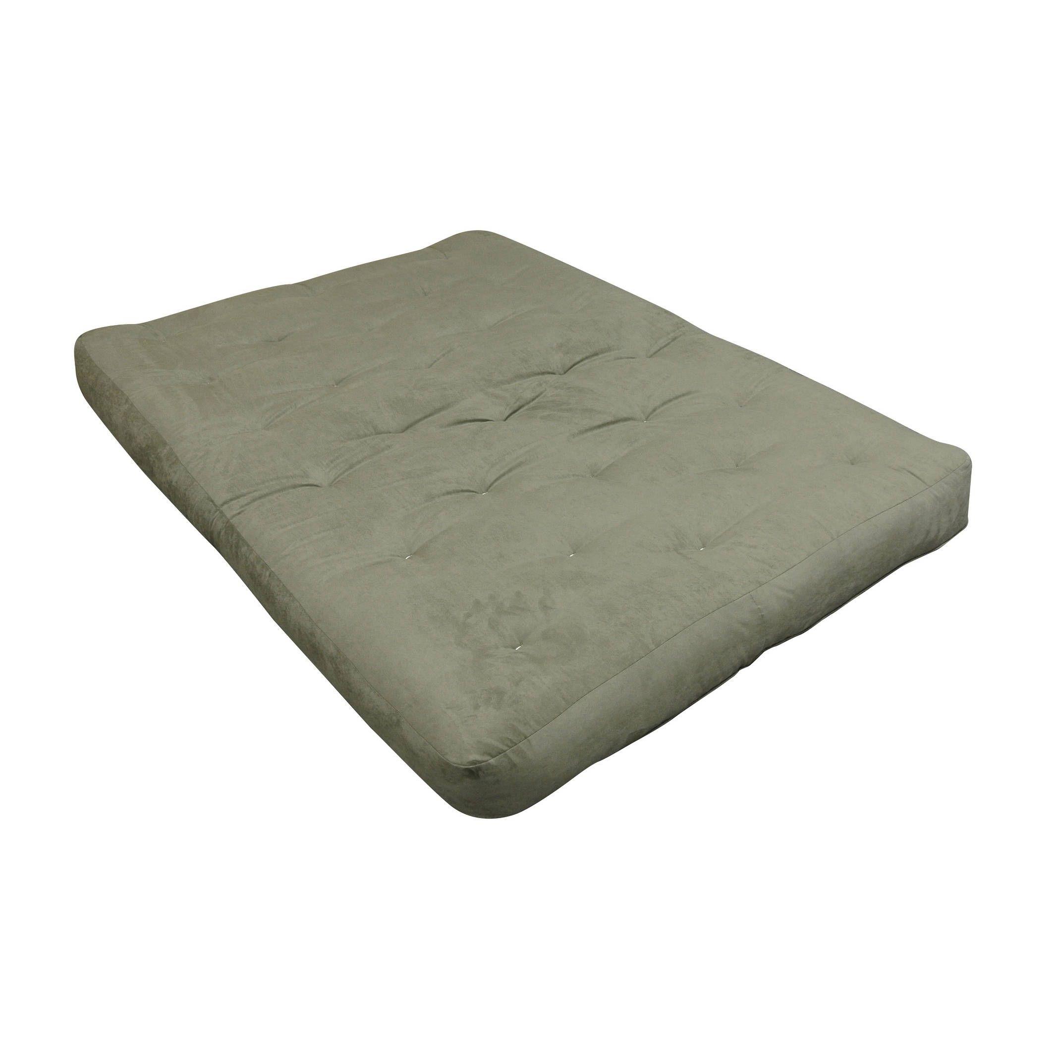 Comfortcoil Sage Microfiber 9 Inch Twin Size Futon Mattress Green Polyester Foam Cotton Innerspring