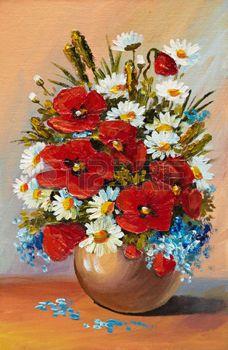 Stock Photo   Comment peindre des fleurs,