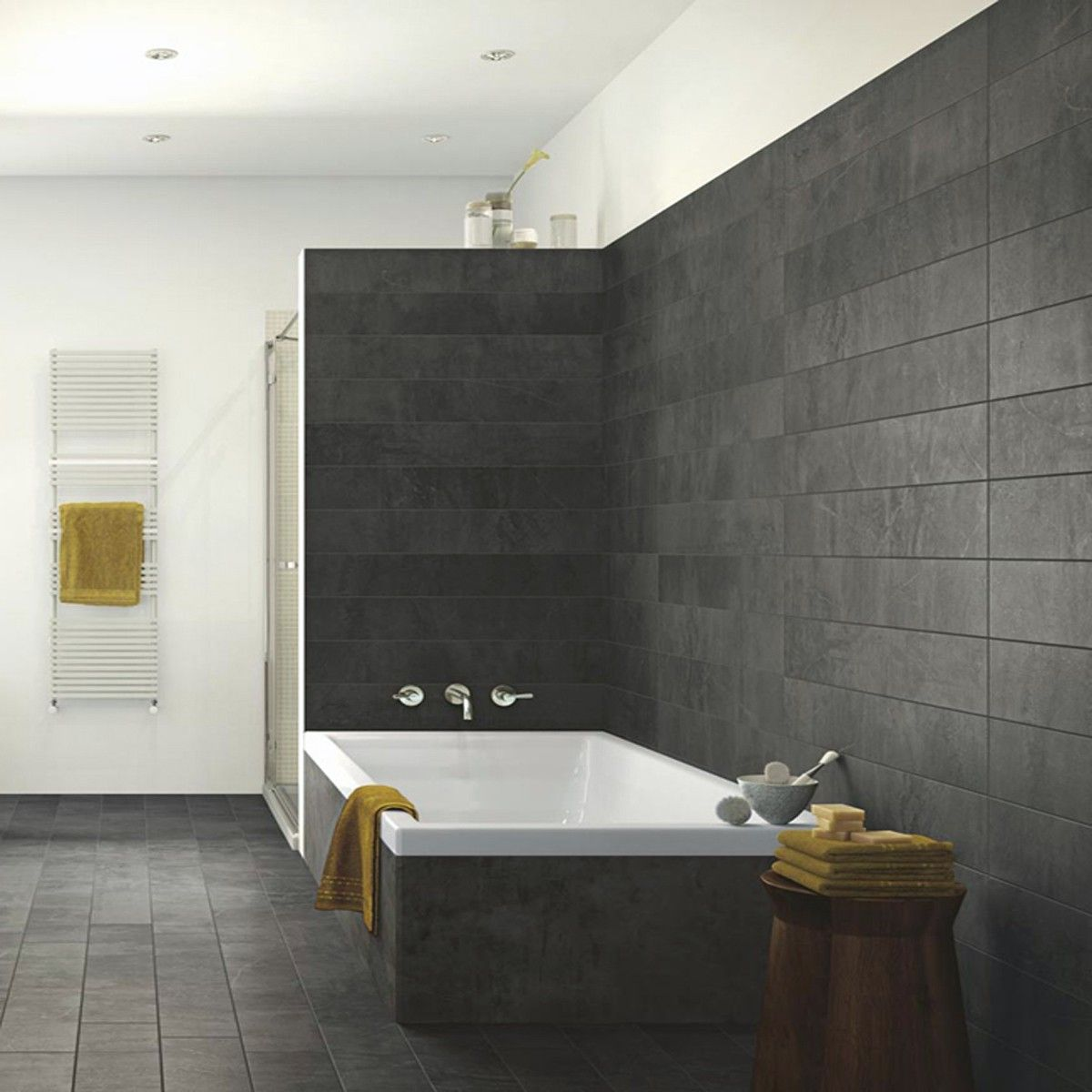 90x15 Milestone Antracite Matt Wood Effect Tiles Tile Floor Tiles Wood Effect Tiles