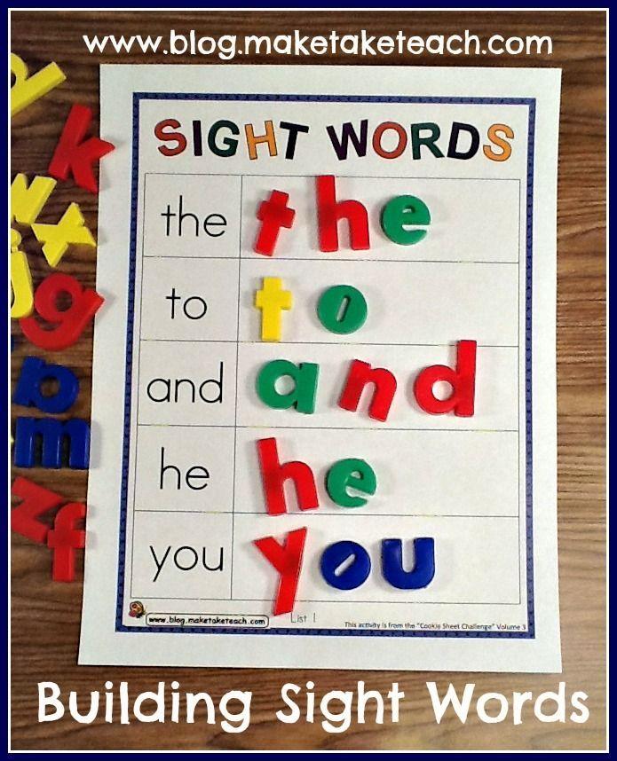 Teaching Sight Words Template, Free and Kindergarten - sample spreadsheet template