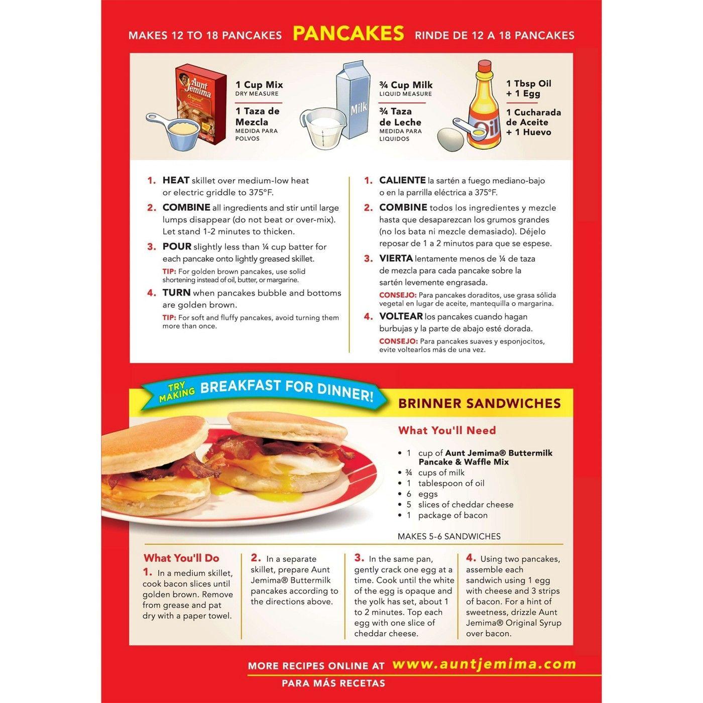 Aunt Jemima Buttermilk Pancake Mix 32 Oz Buttermilk Pancake Mix Aunt Jemima Pancake Mix Aunt Jemima Pancake Mix Recipe
