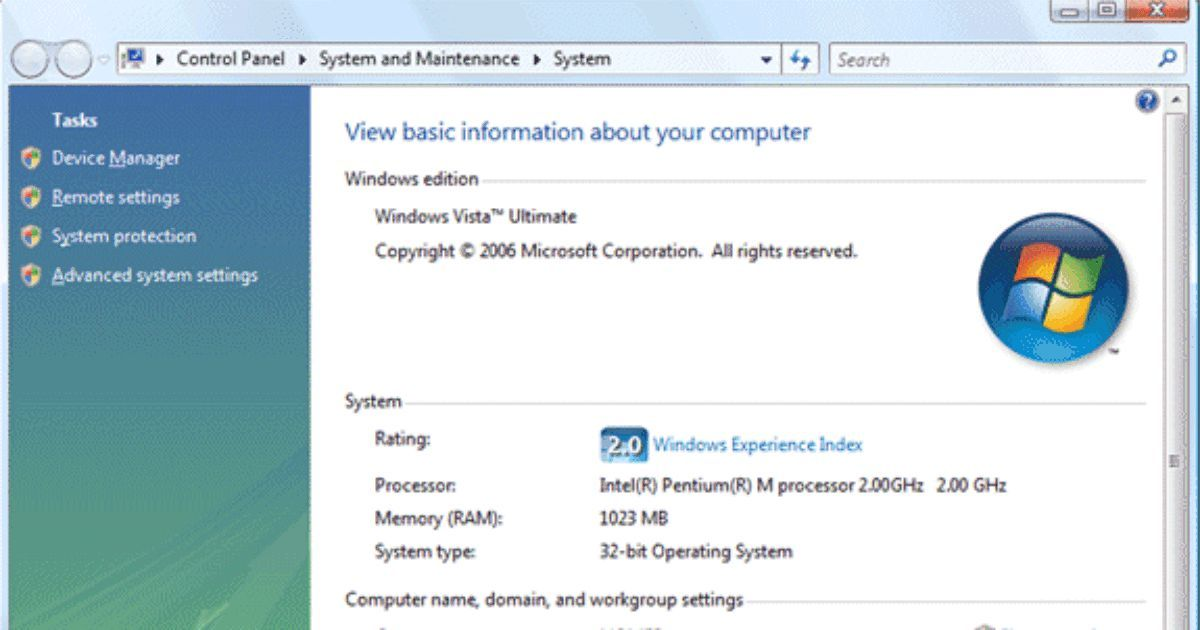 How To Check Your Computer S System Information On Windows Vista
