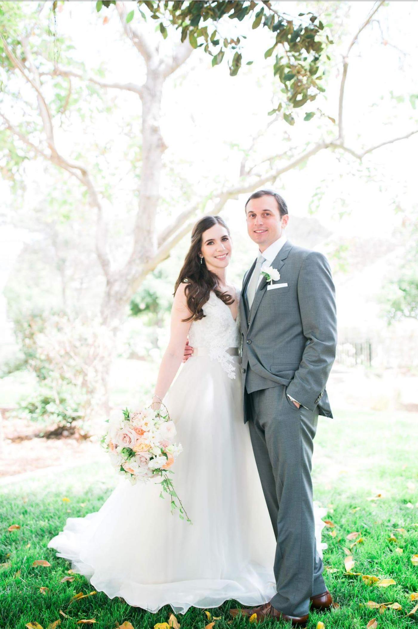 1b684ce4b4d6c J Bride wearing Tara Keely 2500 wedding gown/ Romantic Garden wedding
