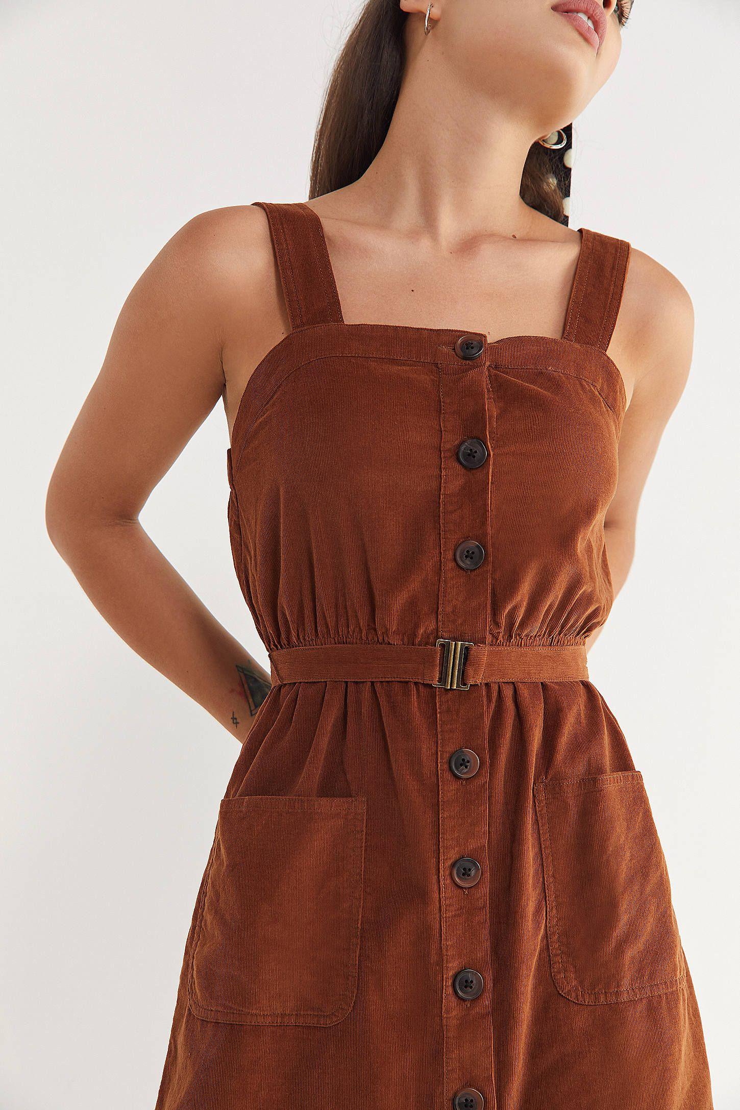 36b29d1728 UO Cordelia Corduroy Midi Dress