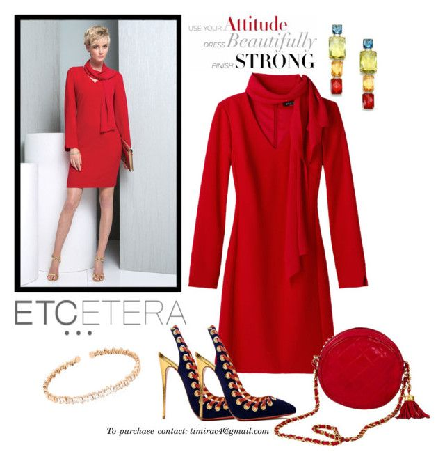 Etcetera Holiday 2015: Cabaret Dress by timirac on Polyvore featuring polyvore, fashion, style, Ippolita, Suzanne Kalan, Etcetera and Christian Louboutin