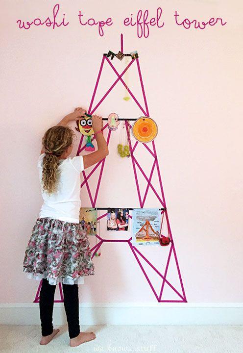 Washi Tape Wall Decor: The Eiffel Tower