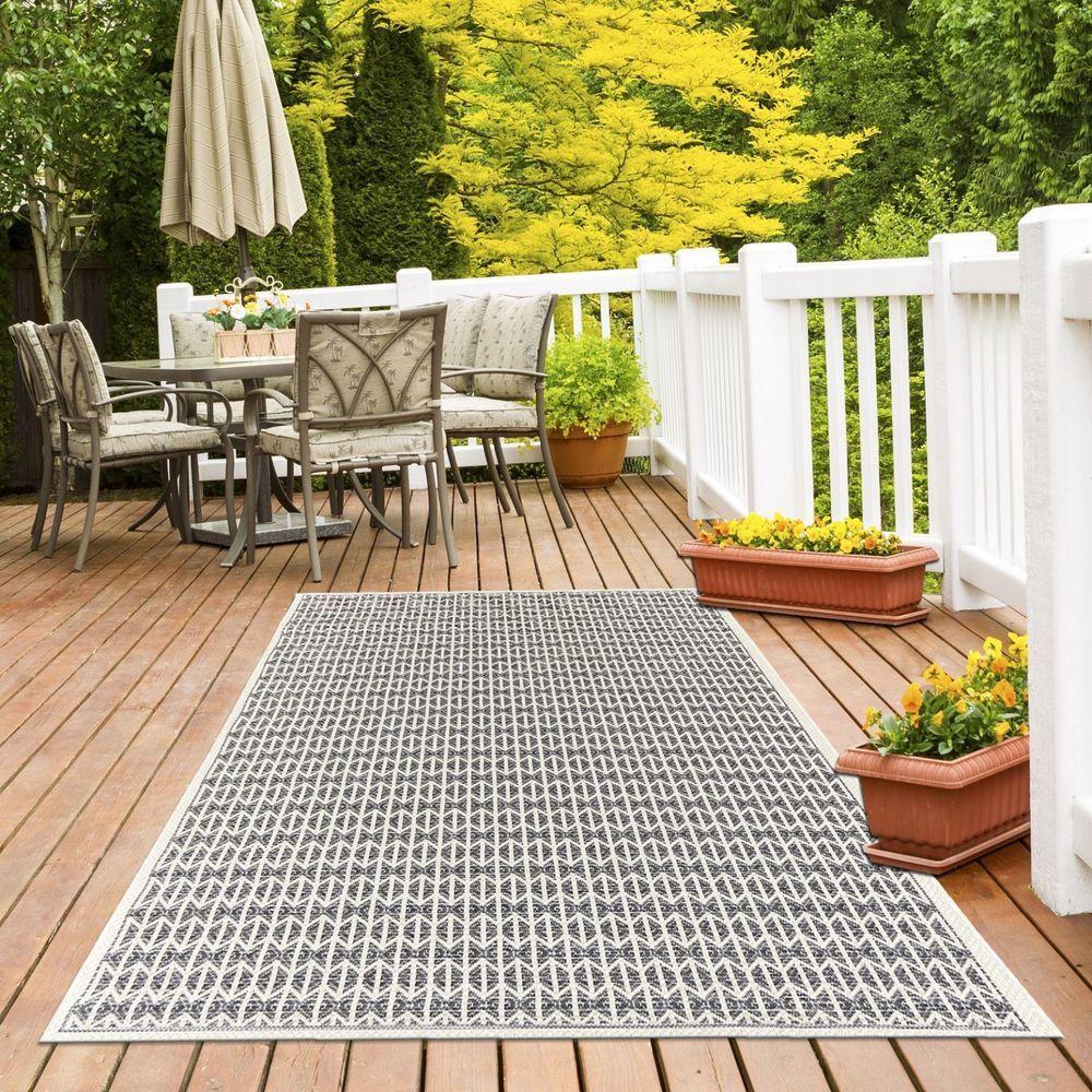 Modern Ecru Geometric Skandi Area Rugs Durable Easy Clean Indoor Outdoor Rug Uk