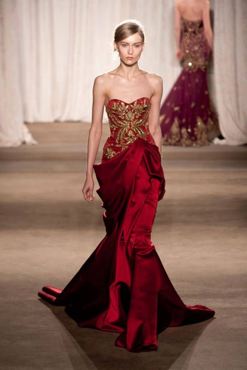 Marchesa Fall 2013 Ready-to-Wear Runway - Marchesa Ready-to-Wear Collection - ELLE