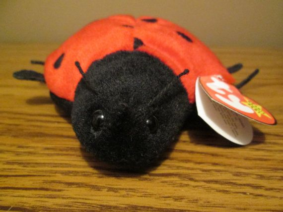 a5ff7047da1 Ty Retired Beanie Baby Lucky the Ladybug with Swing Tag Error