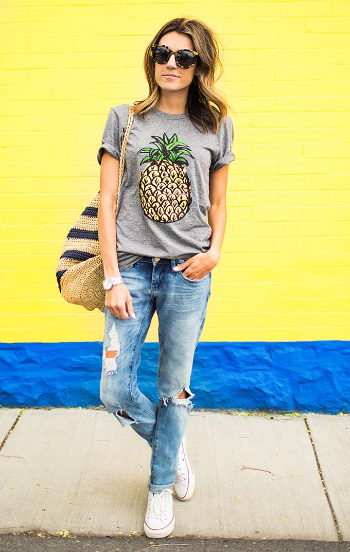 f053b1eed4344 Pineapple Tee   Hello Fashion Blog   Fashion, Style, Outfits