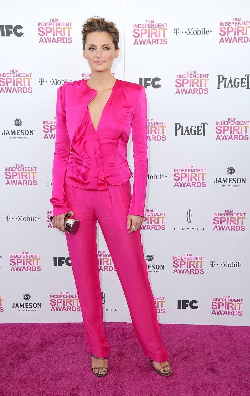 Stana Katic in Donna Karan at Spirit Awards