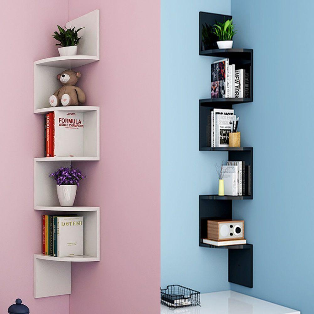 Pin By Hous3 On House Interior In 2020 Corner Decor Corner Shelf Design Wall Shelves Design