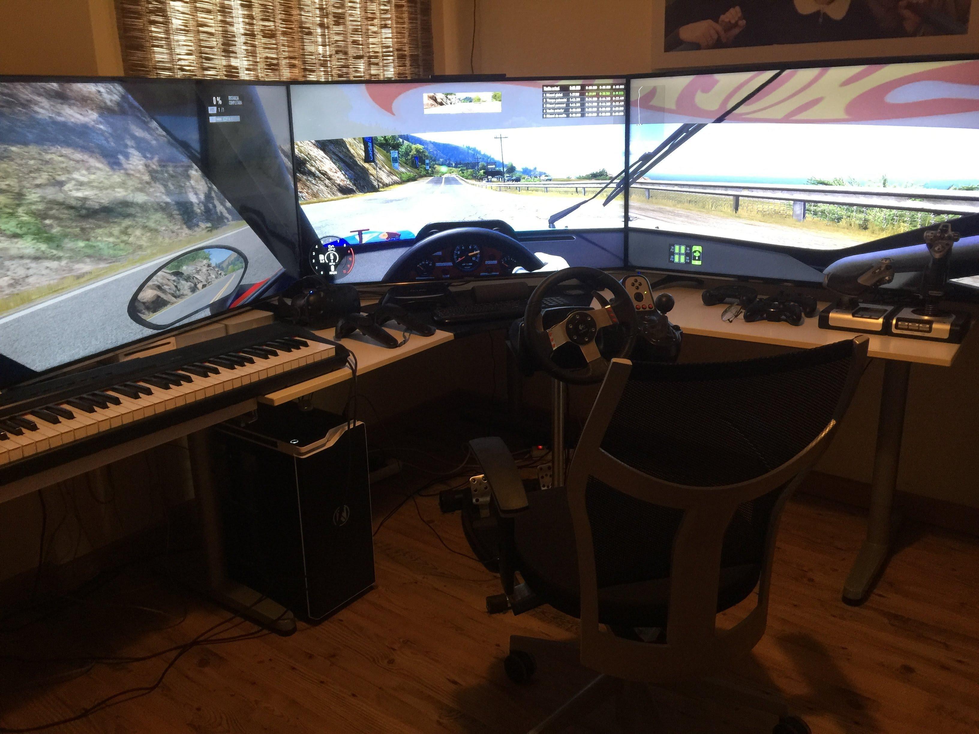 project cars 2 setup holy sunday pc setup pinterest desk setup desks and game rooms. Black Bedroom Furniture Sets. Home Design Ideas
