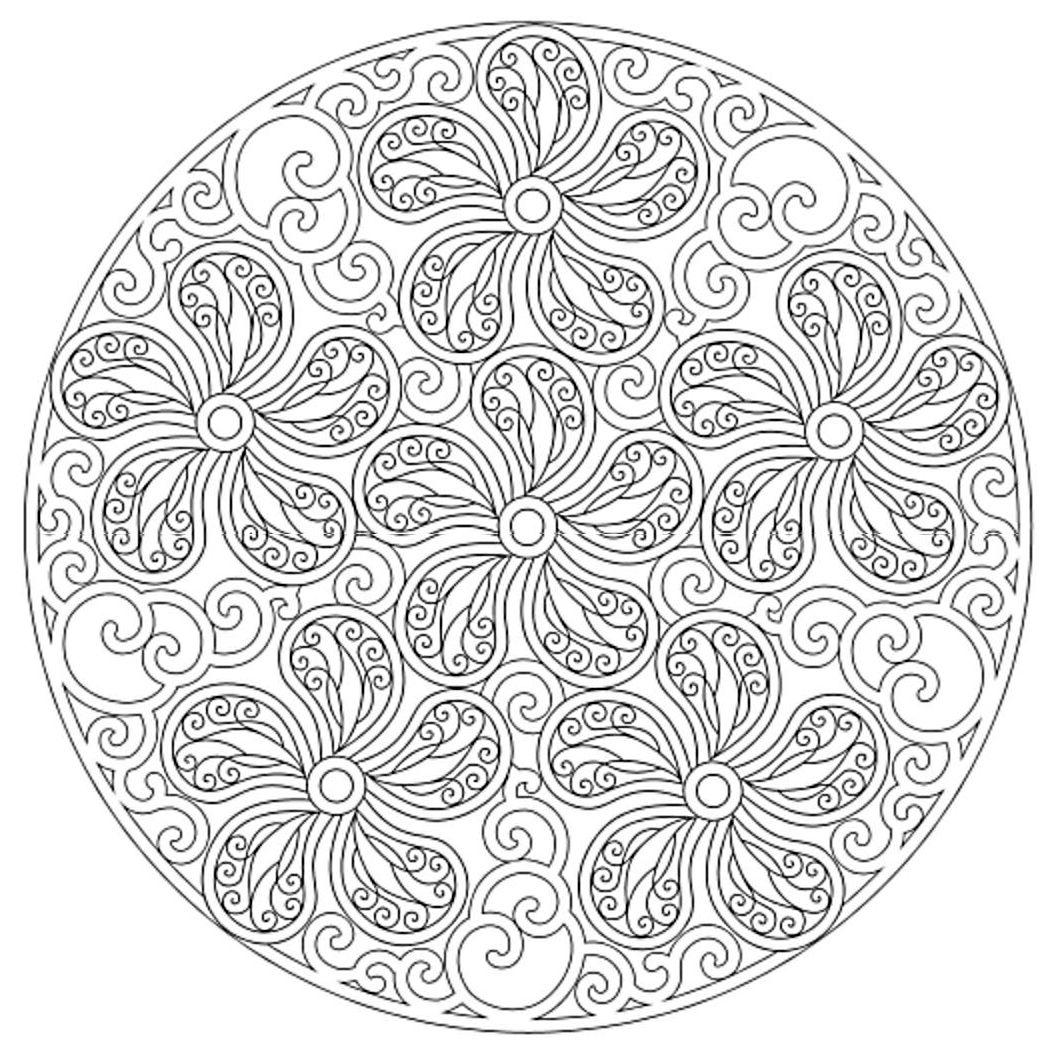 Mandala 652, Creative Haven Paisley Mandalas Coloring Book, Dover ...