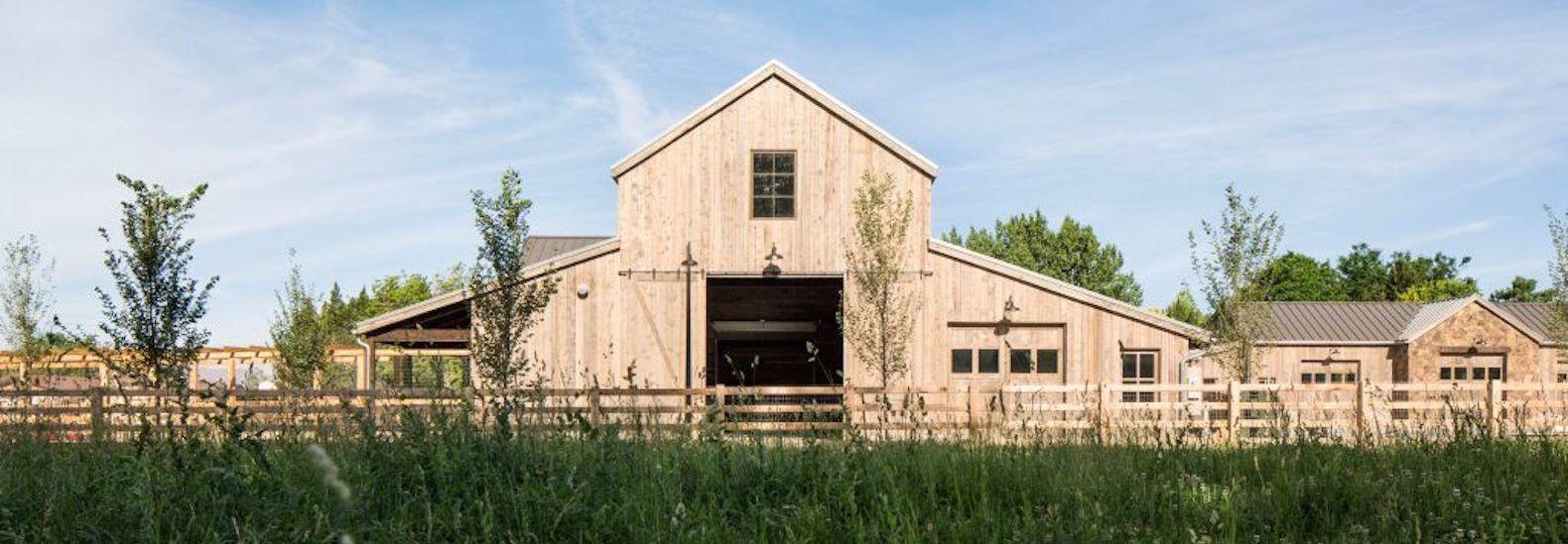 Lloyd Architects designed Snuck Farm, a beautiful modern