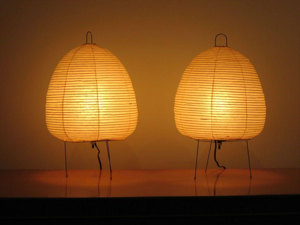 isamu noguchi lighting. pair of vintage akari table lamps by isamu noguchi lighting n