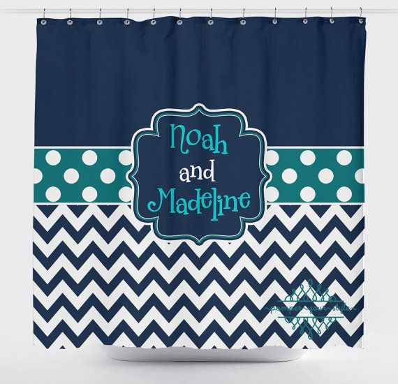 Custom Designed Polka Dot And Chevron Navy And By Pamperyourstyle