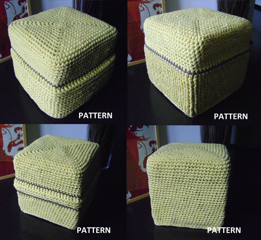 Crochet Granny Ottoman Cover Crochet Pattern | Crochet, Patterns and ...