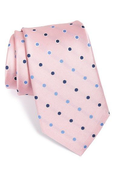 Men's Nordstrom 'Bright Dot' Silk Tie