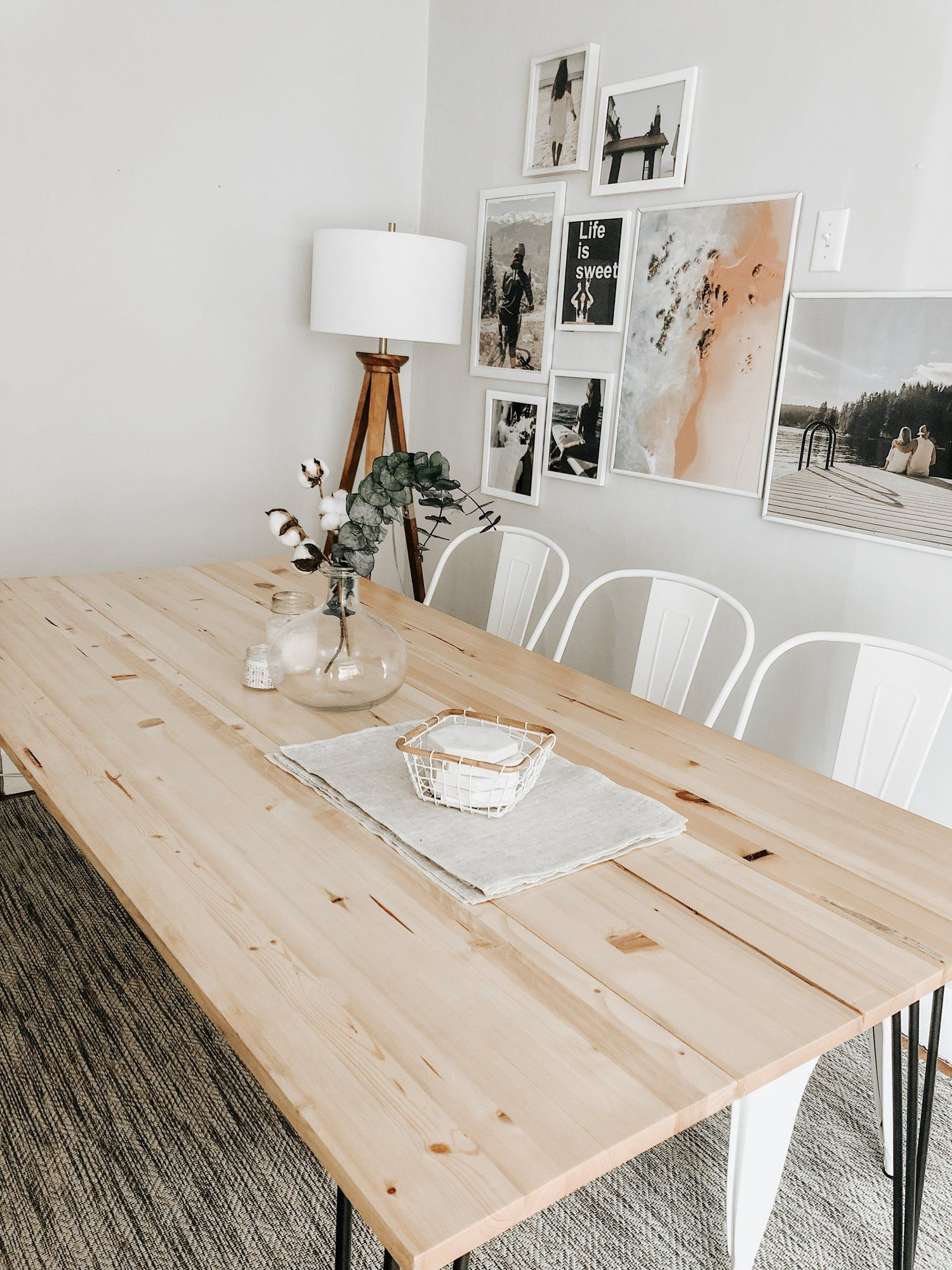 Diy hairpin dining table diy dining room table simple