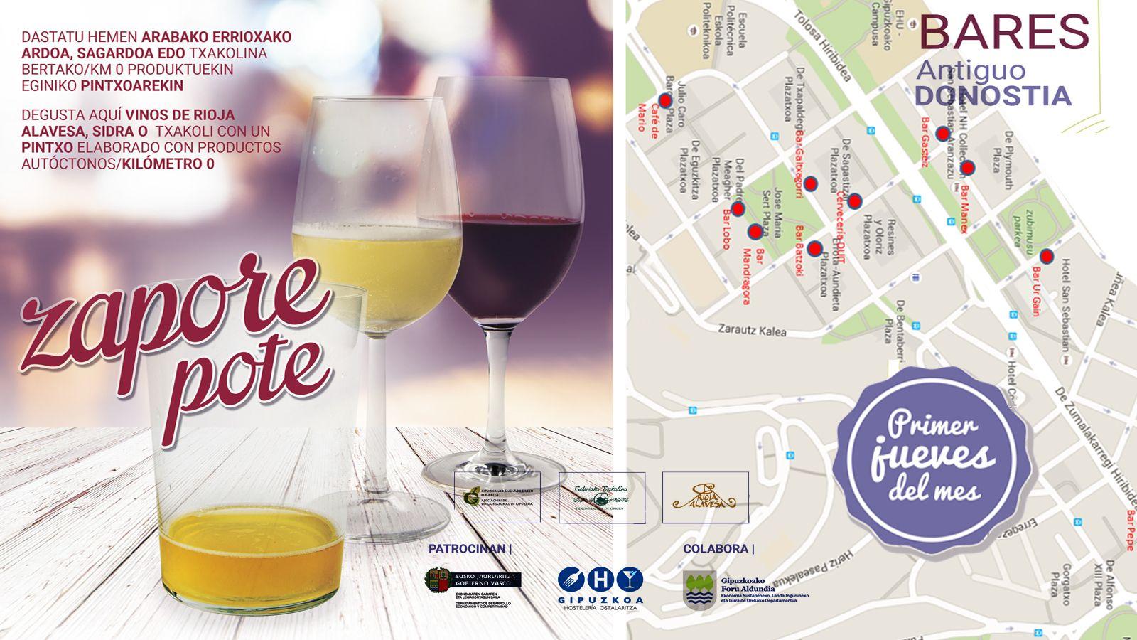 Hoy, ZaporePote, primer jueves de mes en el Antiguo. #Donostia #Hosteleria #Kalitatea #febrero2016 http://bit.ly/1SY1bwQ