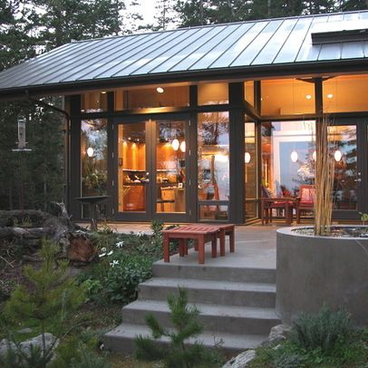 Steel Frame House Design Ideas Pictures Remodel And Decor Steel Frame House Contemporary Farmhouse Contemporary Patio