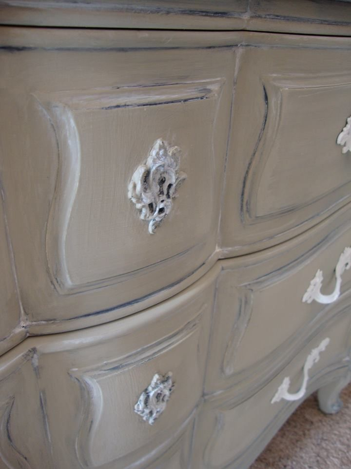 French Provincial Dresser painted using Maison Blanche