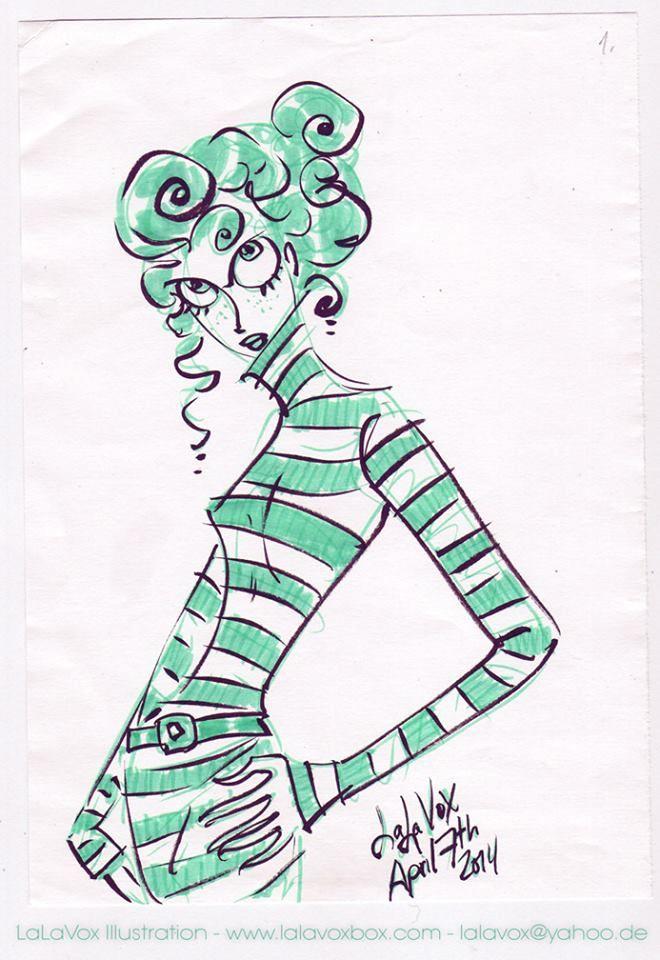 © LaLaVox - www.lalavoxbox.com - brush-pens sketch