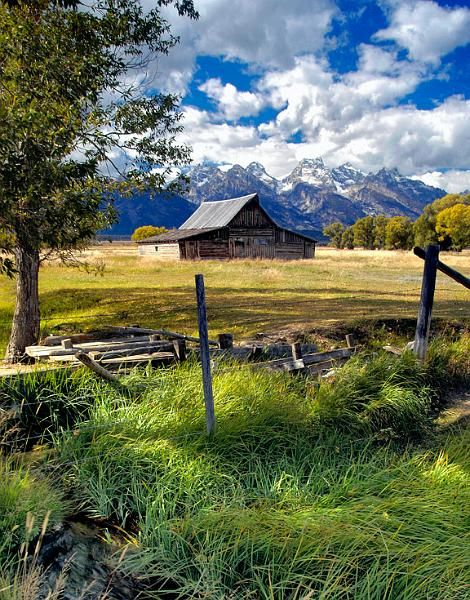 Photograph Courtesy Of Jasper James Teton Cabin Beautiful Landscapes Country Barns Old Barns
