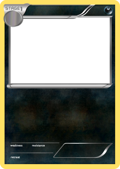 Bw Dark Stage 1 Pokemon Card Blank By The Ketchi On Deviantart Pokemon Card Template Pokemon Cards Pokemon