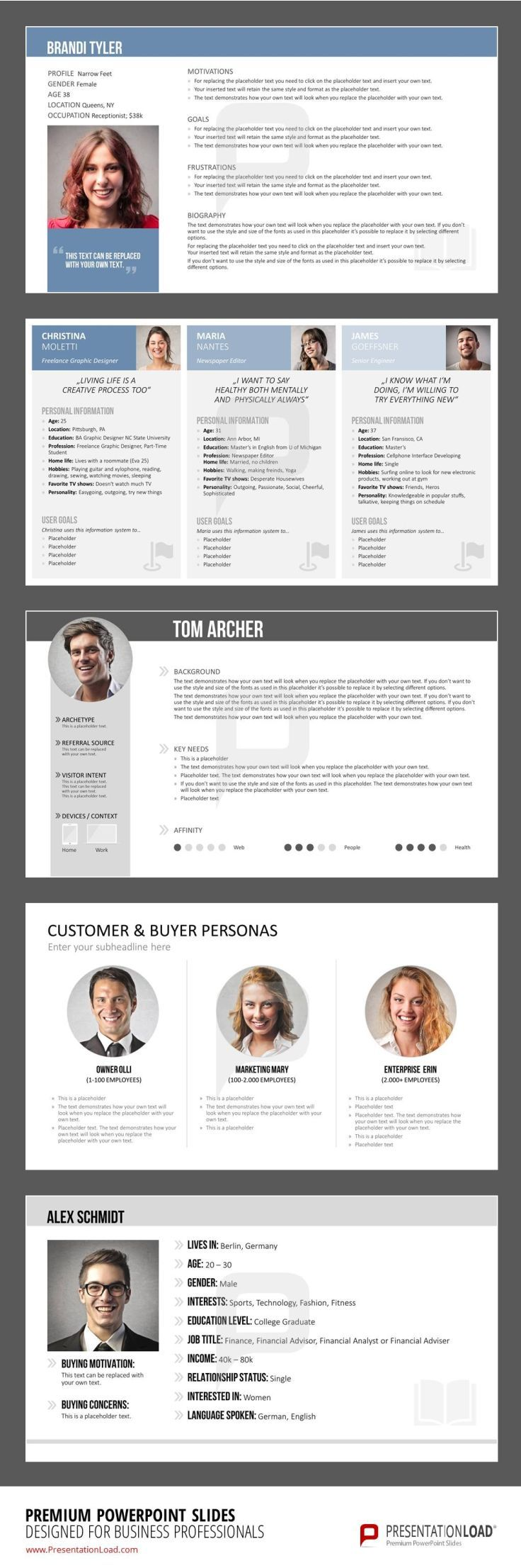 buyer persona templates for powerpoint will help you gather the, Presentation templates