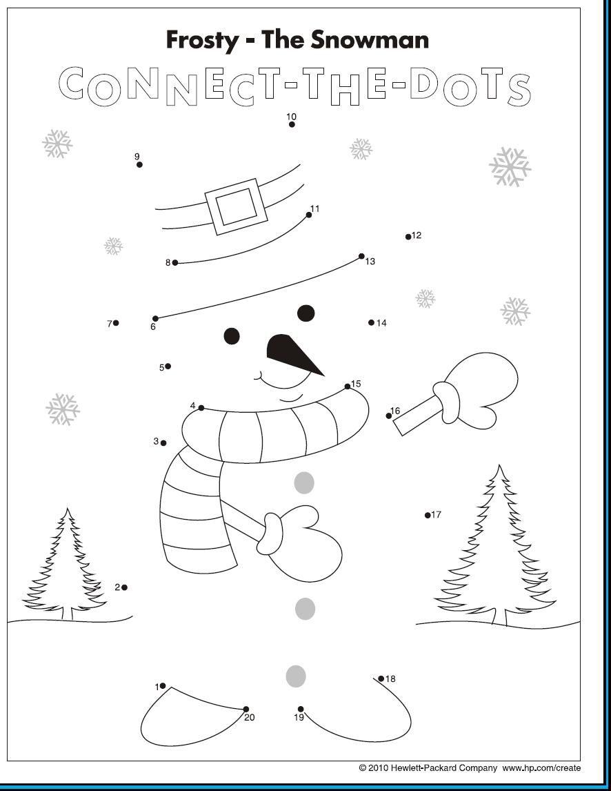 Snowman Christmas Worksheets Preschool Christmas Winter Kindergarten [ 1146 x 886 Pixel ]