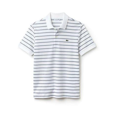5e187cf845dea Camisa polo Lacoste masculina em tecido pima listrado   camisa de ...