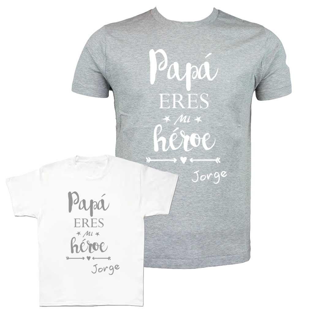 Camiseta para papás e hijos. Camisetas personalizadas para el día del  padre. Regalos originales para padres. 5c12c9339ff04