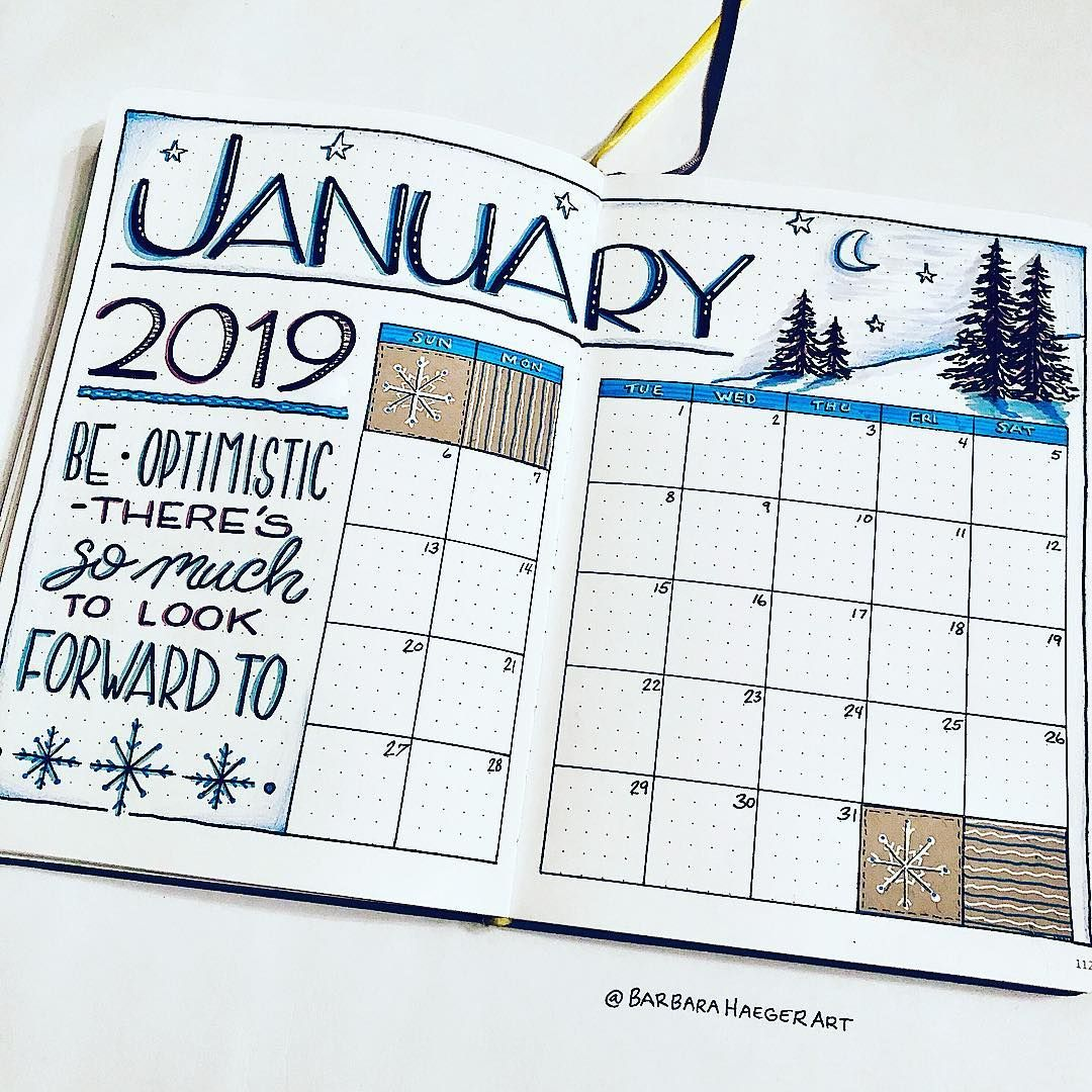 15 Bullet Journal Layouts For January - Meercai