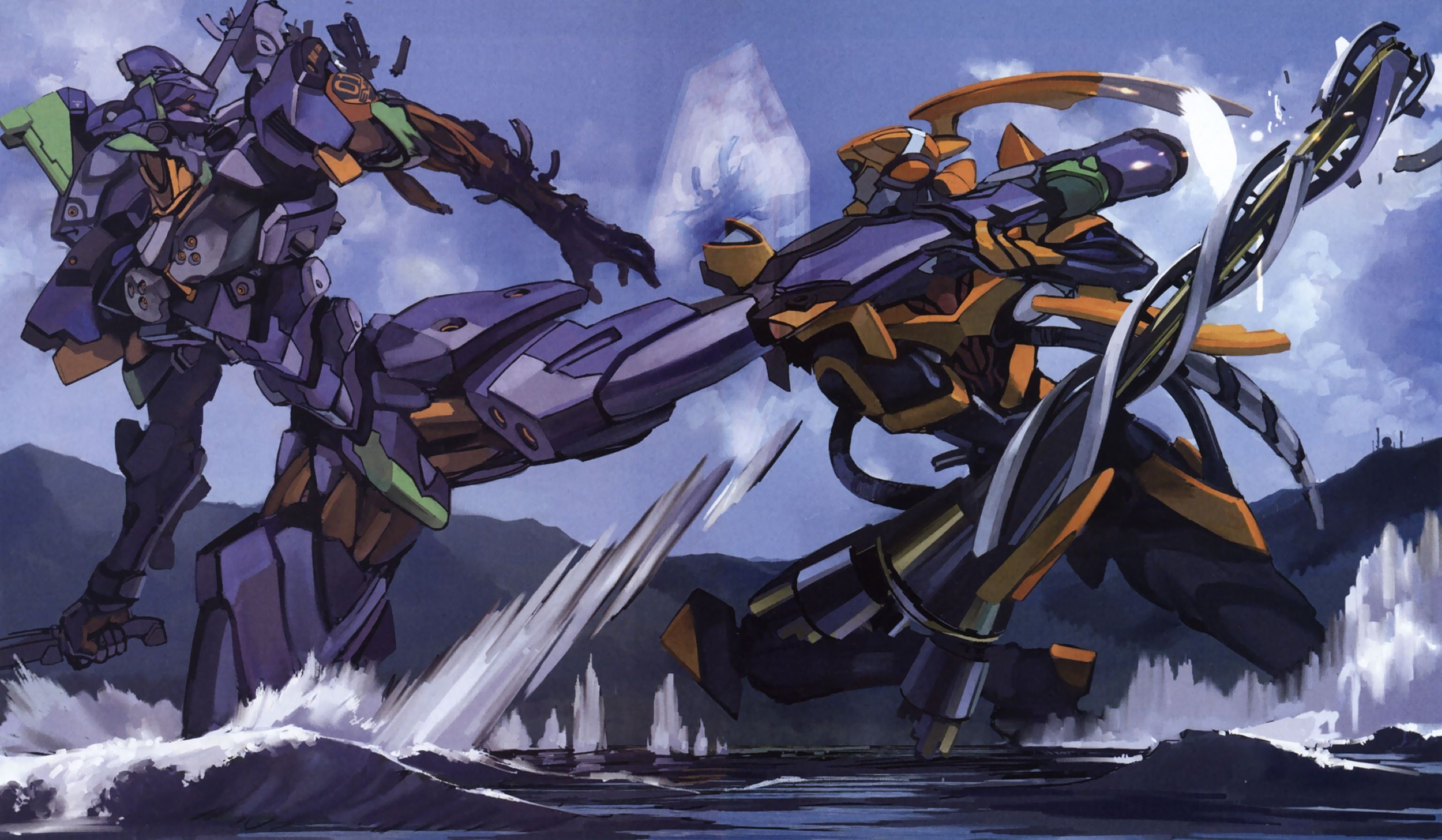 Neon Genesis Evangelion Unit 01 Berserk HD Wallpaper
