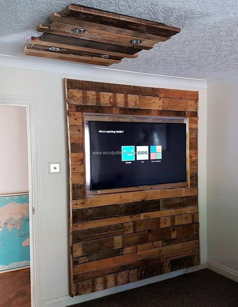 Have a look at both items together, no one can say that they are not looking great with each other. This is a good idea to fit the TV because it will not occupy the space; it also eliminates the need of placing a TV stand for placing the TV.