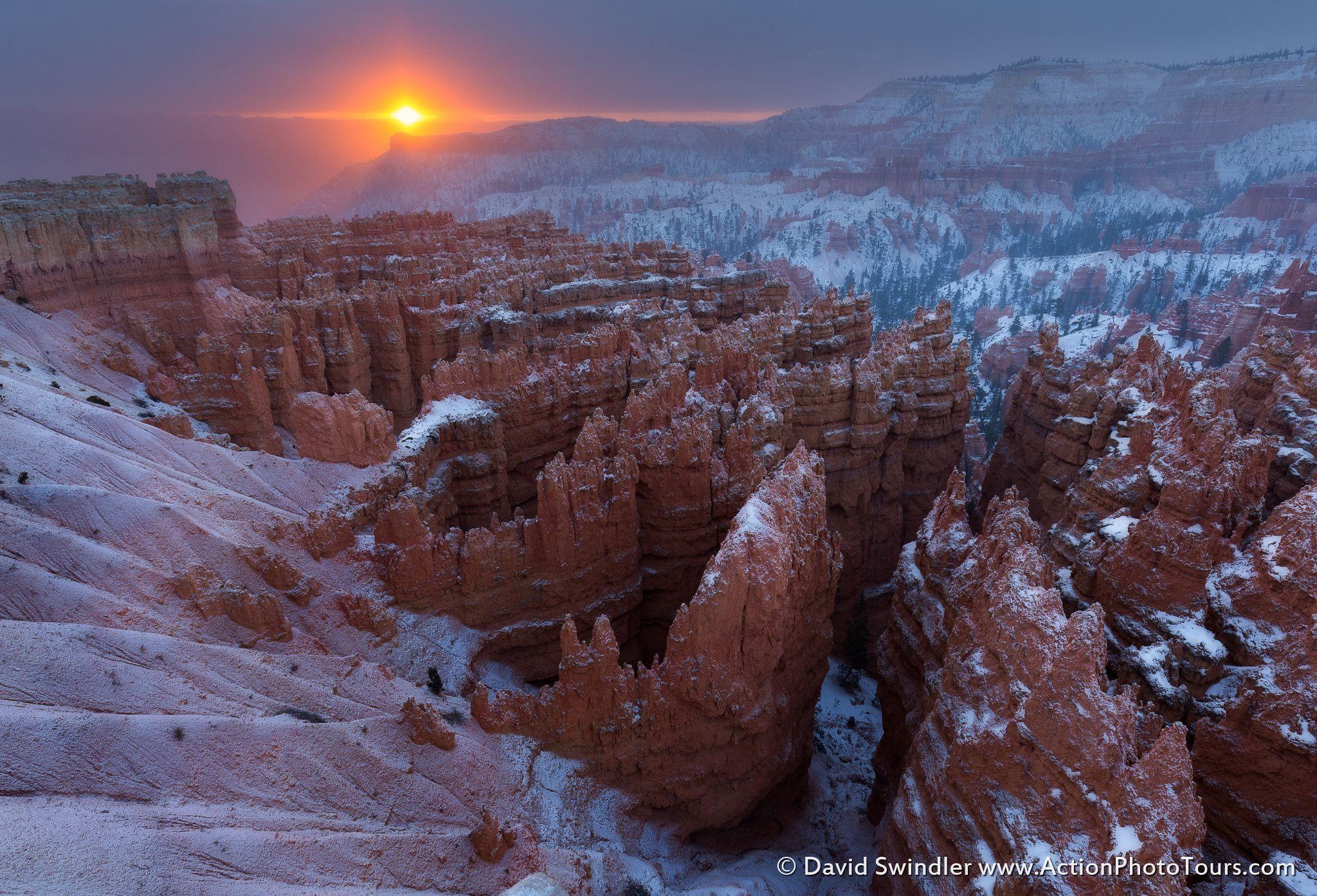 Bryce Canyon - Utah Travel Sunrise Landscape