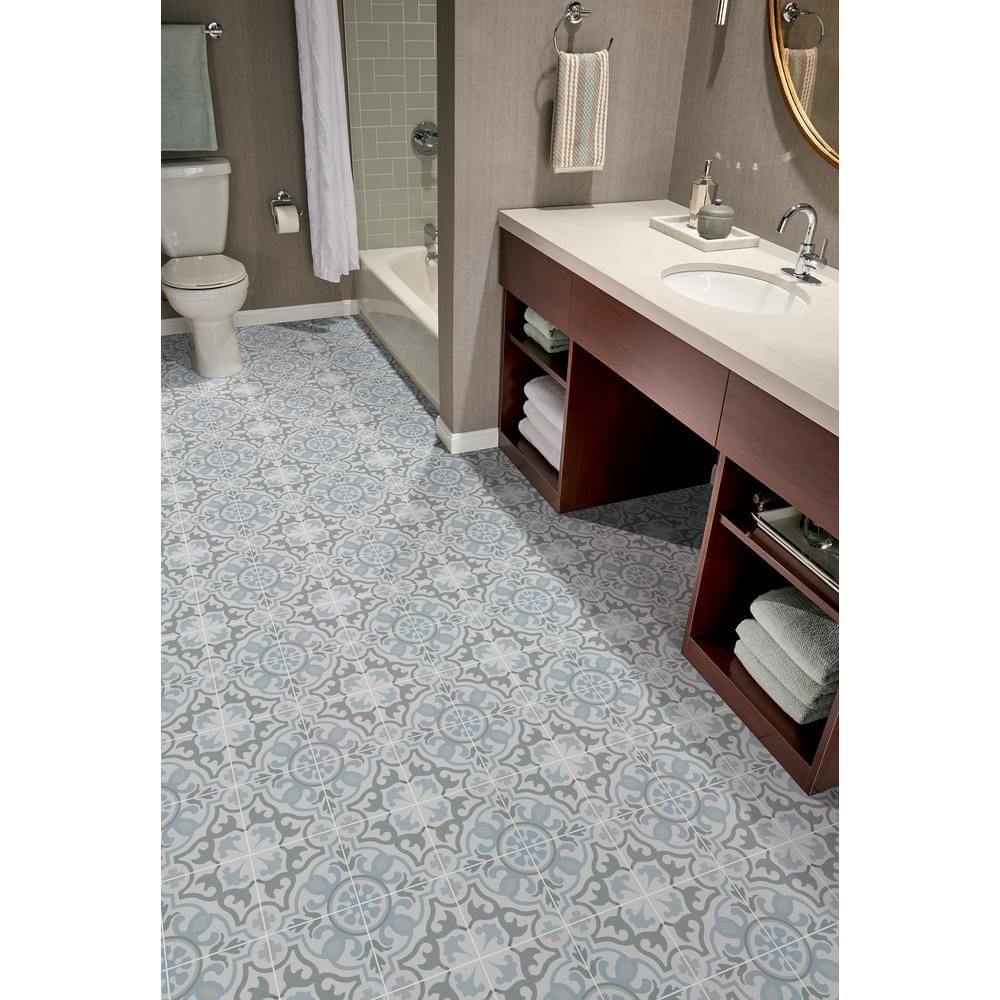 Msi Blume Encaustic 8 In X 8 In Glazed Porcelain Floor And Wall Tile 5 33 Sq Ft Case Nhdblu8x8 The Porcelain Flooring Wall Tiles Floor And Wall Tile