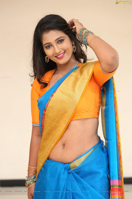 Saree navel navel below hot below