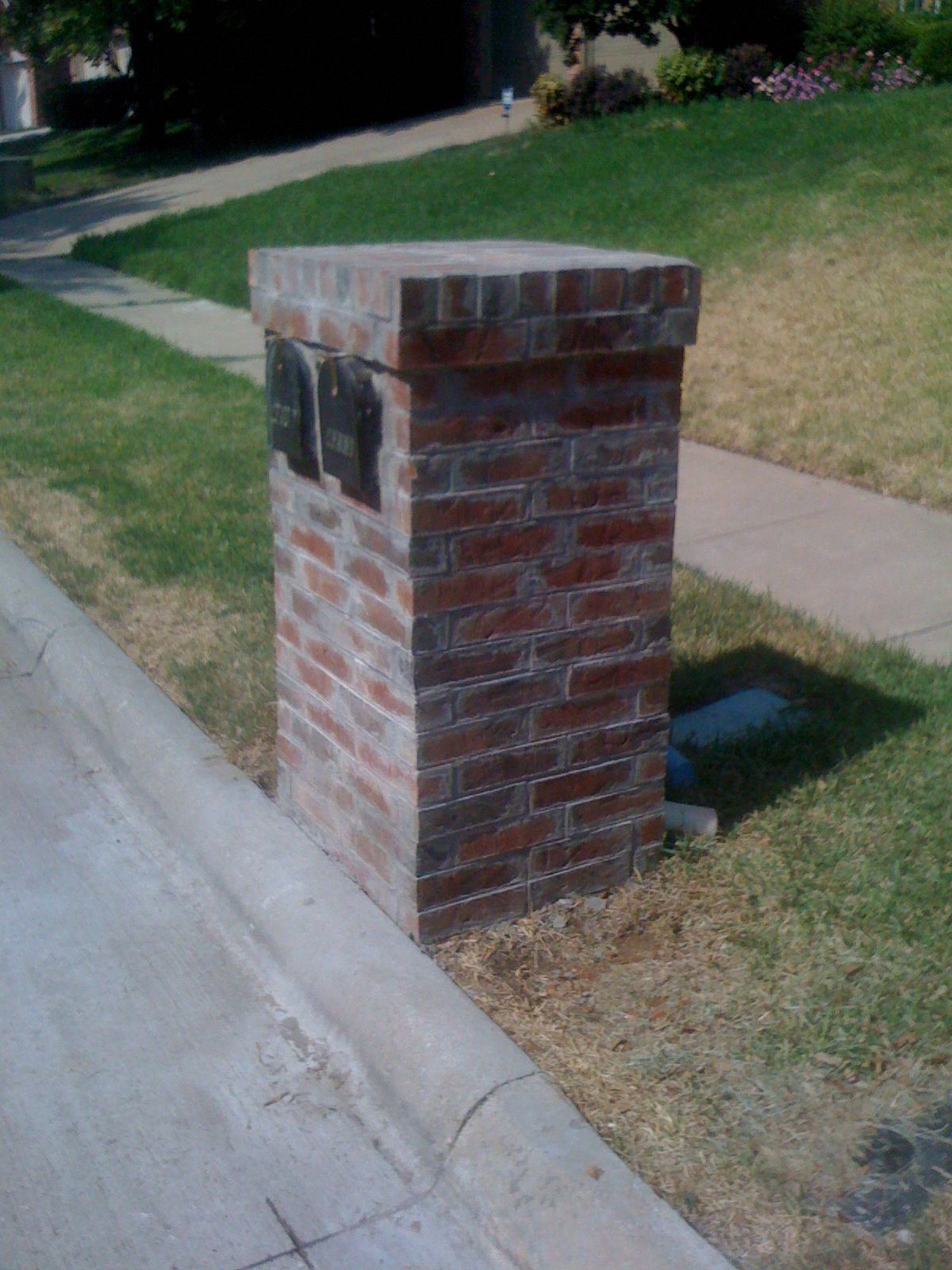 Double Brick Mailbox  Harper Construction Tx