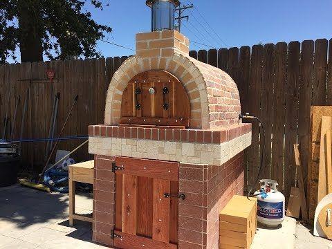 Making a pizza oven horno de le a y gas youtube - Materiales para hacer un horno de lena ...