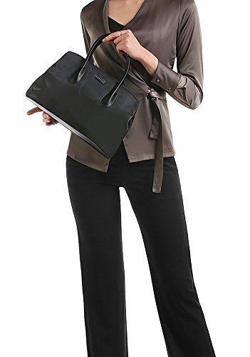 1aea615479da0 CHICECO Klassische Handtasche Damen Schwarz Henkeltasche Nylon Klein - 32 x  22 x 16