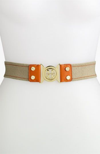 Tory Burch 'Stretch Interlocking' Belt available at #Nordstrom Made in USA.