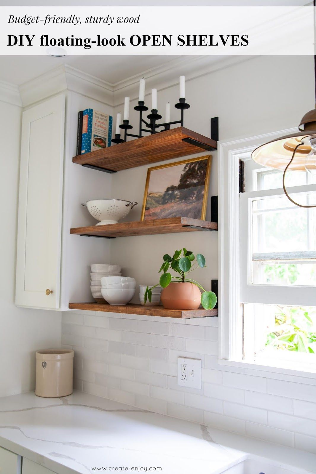 DIY, budgetfriendly floatinglook open shelves! in 2020