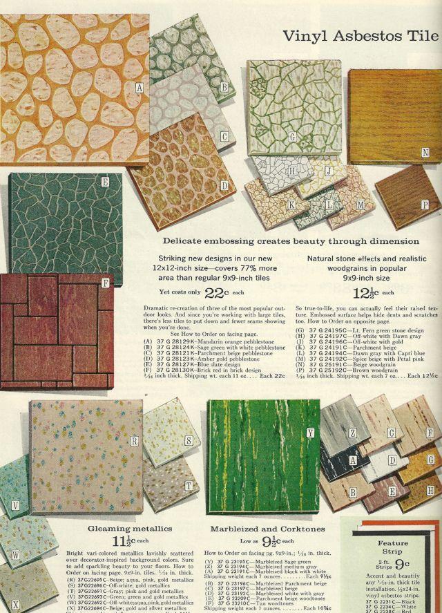 Vinyl Asbestos Tile Vintage House Vintage Home Decor Tiles