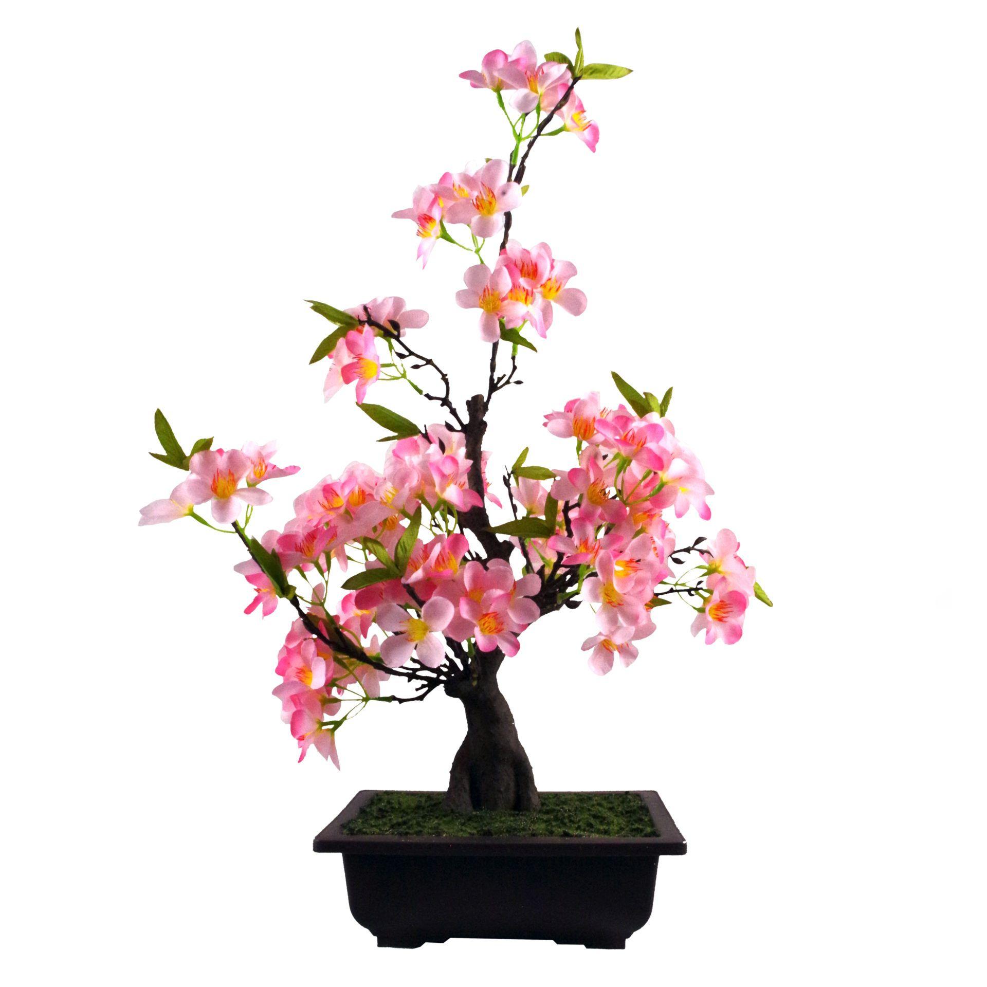 60cm Artificial Pink Blossom Bonsai Tree Artificial Cherry Blossom Tree Bonsai Tree Pink Blossom