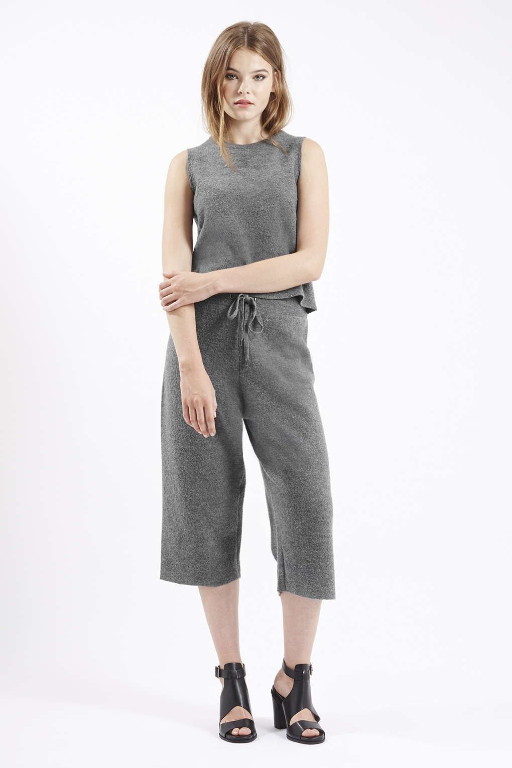 Premium Boiled Wool Tank Top and Culottes